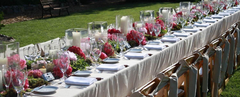 Backyard garden reception